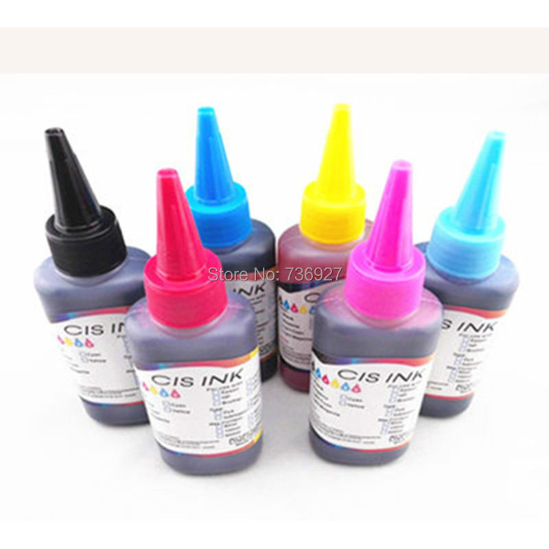 6X 100ml T0811-T0816 Refill Dye <font><b>ink</b></font> for <font><b>Epson</b></font> Stylus Photo <font><b>R270</b></font> R290 R295 R390 1430W RX590 RX610 RX690 printer image