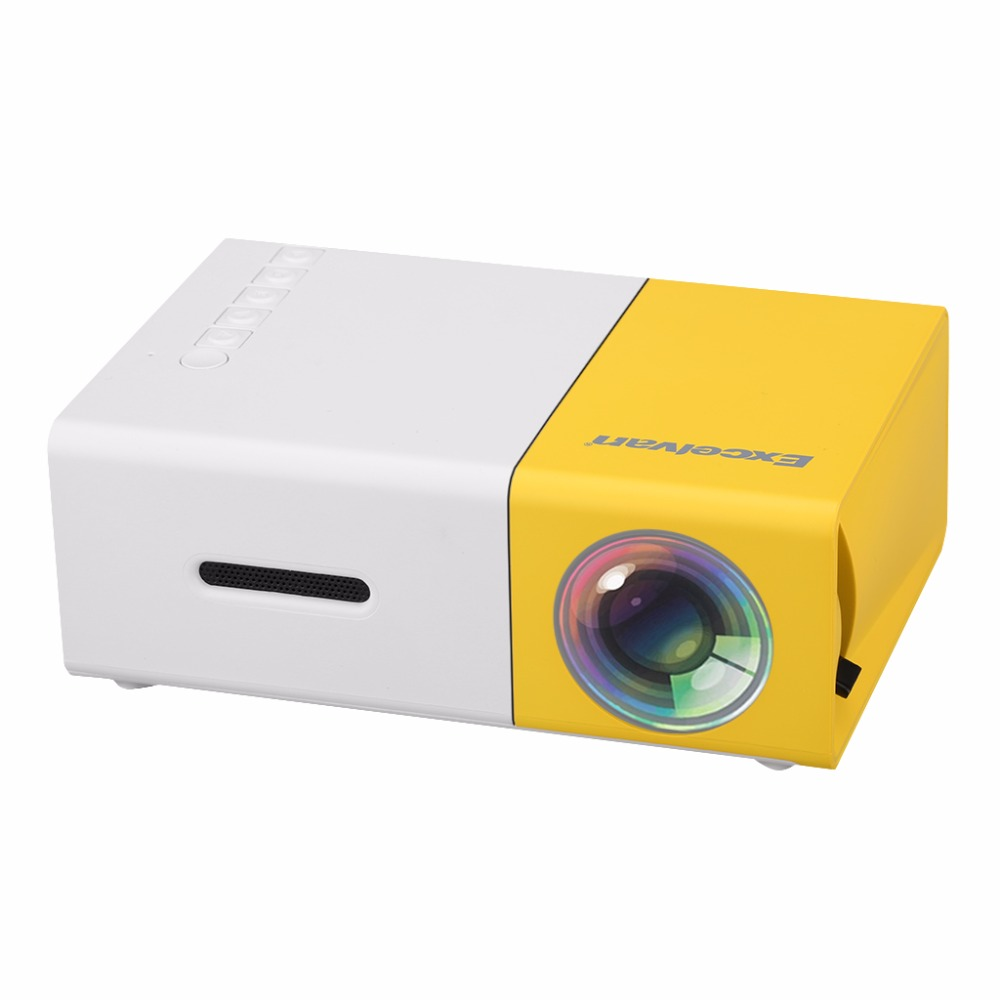 Excelvan YG-300 Portable Mini Projector 600 Lumens YG300 320 x 240 Pixels Media Player Support 1080P HD LCD LED Projectors portable media player