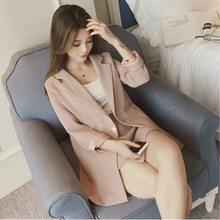 Set female 2018 spring new temperament fashion wild striped suit jacket + elegant shorts casual two-piece