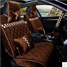 Good quality! Full set car seat covers & steering wheel cover for Skoda Yeti 2015-2011 winter durable seat covers,Free shipping