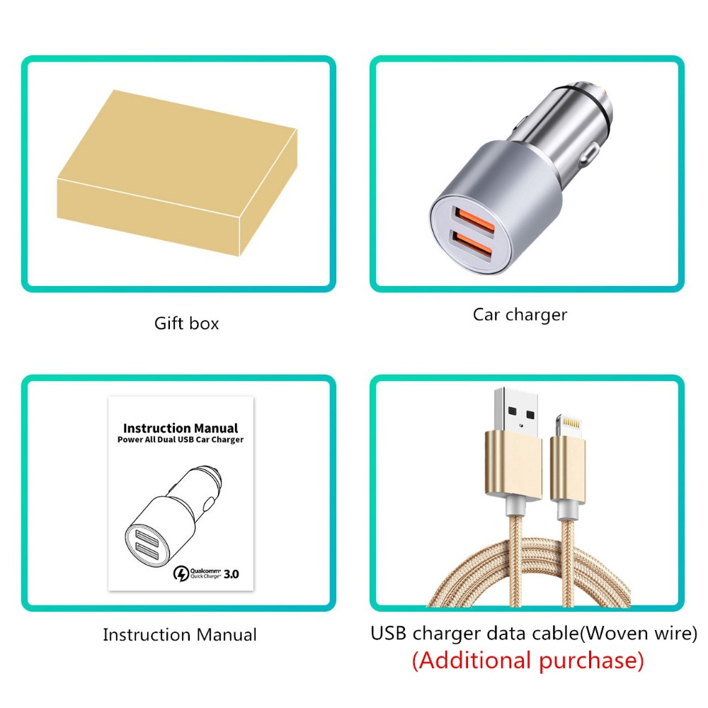 medium resolution of quick charge 3 0 2 port support qc3 0 36w usb car charger for xiaomi mi4 5 iphone samsung galaxy s7 s6 note htc m9 nexus 6 in chargers from consumer