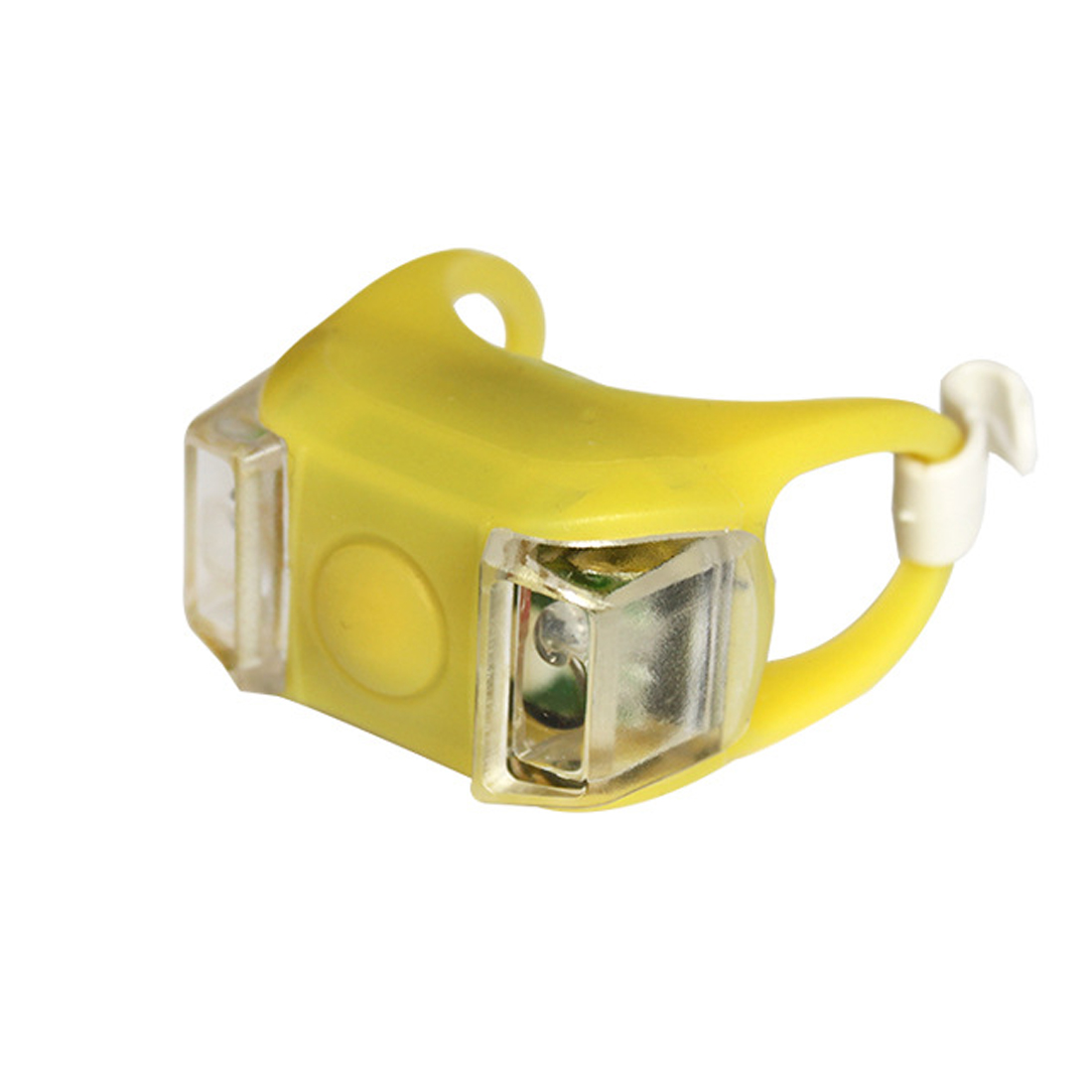 !Yellow Bicycle Front Light Silicone Bike LED Head Light Cycling Waterproof Lamp
