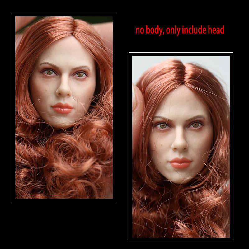 GACTOYS GC002 Black Widow Scarlett Johansson Long Red Brown Hair Women s  Head Sculpture Model 1  62b012d98425