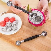 1 шт. двухголовая ложка с арбузом Pitaya из нержавеющей стали, ложка для фруктов и мороженого sala, инструмент для приготовления пищи, кухонные аксессуары