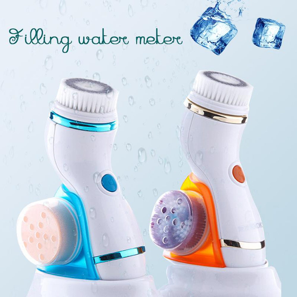 4 In 1 Sonic Facial Cleansing Brush Silicone Vibration Cleaning Device Personal Skin Care Brush Face Scrubber Tool