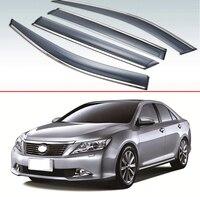 Dla Toyota Camry 2007 2008 2009 2010 2011 2012 plastikowe zewnętrzne daszek Vent odcienie okno osłona przeciwdeszczowa deflektor 4 sztuk w Markizy i zadaszenia od Samochody i motocykle na