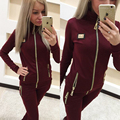 Women women Suits 2016 New Velvet Crown Embroidery Hoodies Women's Tracksuit Set Feminino women suit Plus Size