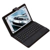 Universal Del Tirón Del Touchpad Desmontable Bluetooth Wireless Keyboard Case PU Cuero Klavye Teclado para Android Windows 8-8.9