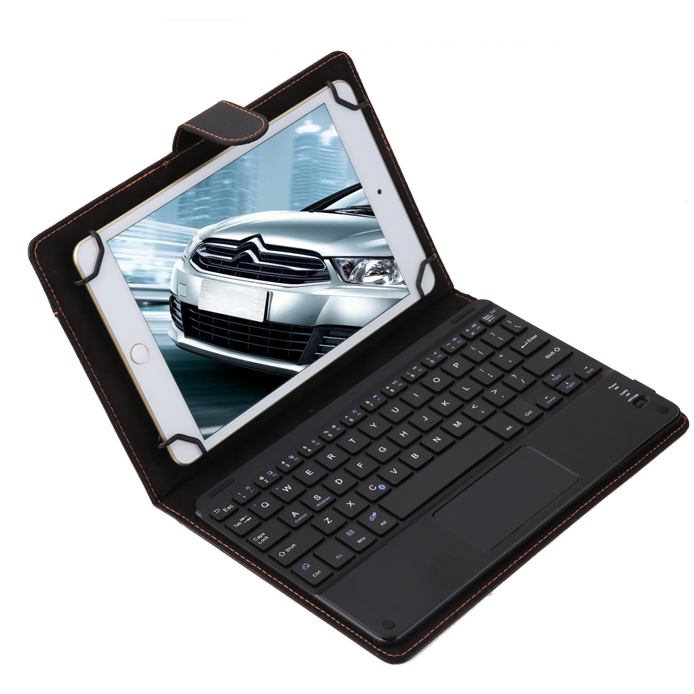 Universal Flip Wireless Bluetooth Keyboard Case Touchpad Removable PU Leather Klavye Teclado for Android Windows 8-8.9 Tablet wireless removable bluetooth keyboard case cover touchpad for lenovo miix 2 3 300 10 1 thinkpad tablet 1 2 10 ideapad miix