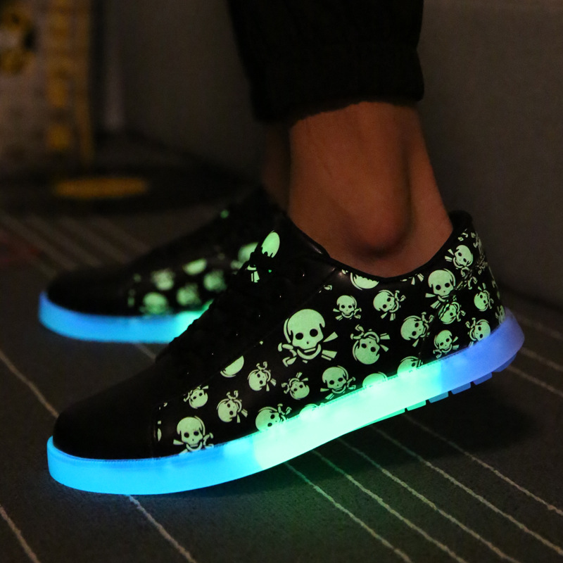 ФОТО Men's Street Dance Fashion Casual  Fluorescence Shoes,Students/Tide Male/Female Fashion Shoes,Lovers Shoes