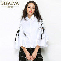 Autumn High Quality Luxury Brands Designer Top Women S Flare Sleeve Casual Korean Loose Blouses Shirts