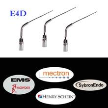 цена на 3 pcs/lot Dental Scaler Tip E4D for EMS/WOODPECKER /Sybron-Endo for Endo Treatment Instrument Equipment