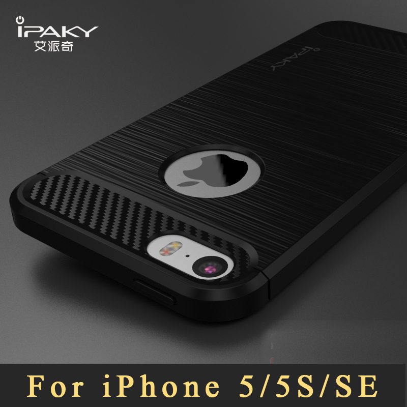 new styles 9e527 fe238 US $4.37 30% OFF|Aliexpress.com : Buy iPaky Brand Coque For iPhone 5s Case  Luxury Brushed TPU Cases For iPhone SE Case Silicone Back Cover For iphone  ...