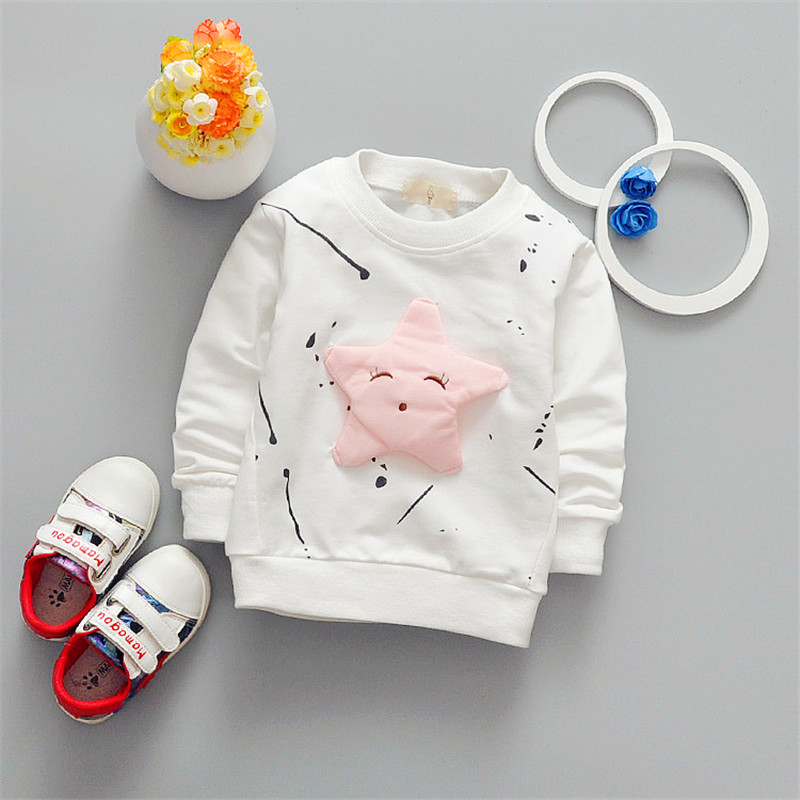 2017 new fashion children cartoon long sleeved T shirt all match Korean star fashion jacket direct