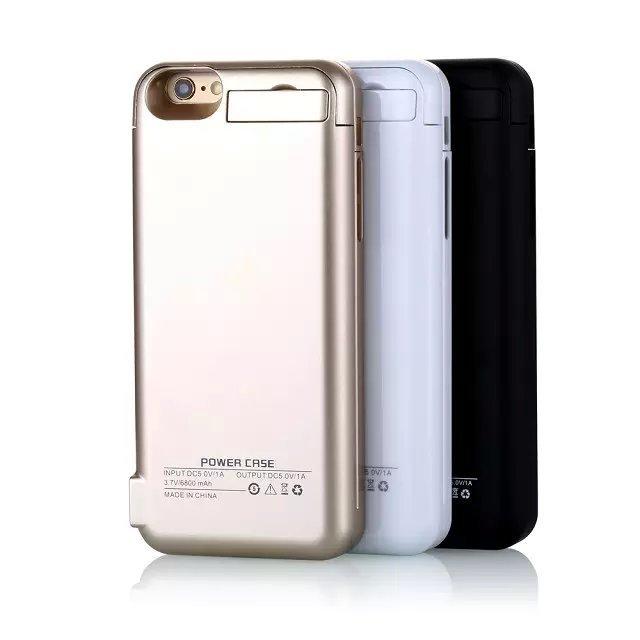 imágenes para Para Iphone6 6 s/6 Plus 6 s Más 5800 mAh/82000 mah Caso Del Cargador de Batería Externa recargable Power Bank caja de Batería para iphone6