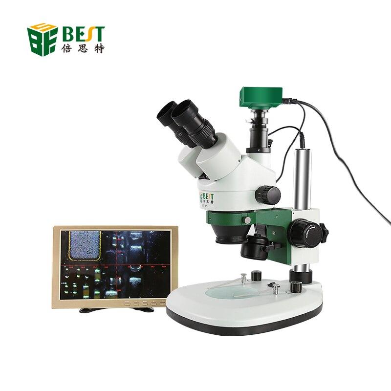Microscope numérique 3D trinoculaire stéréo de BST-X6 + Microscope métallurgique trinoculaire de caméra pour la réparation de carte mère CPU PCB