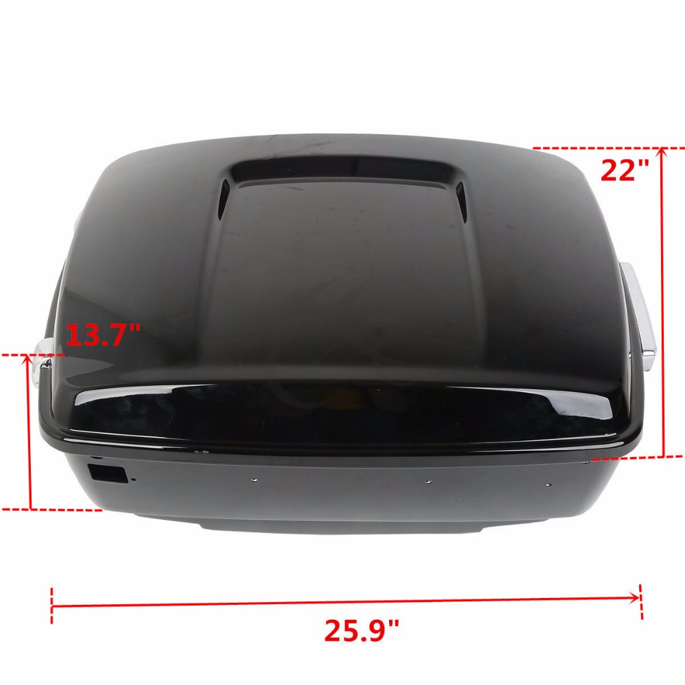 Motorcycle Painted Black King Tour Pak Pack Trunk Luggage Rack For Harley Touring Road King Street Glide Road Glide 2014 2018
