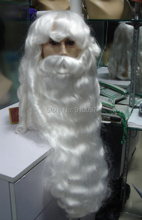LHX32015P COS wig Deluxe Santa Claus Wig Beard Set s Christmas s X Mas hair wigs