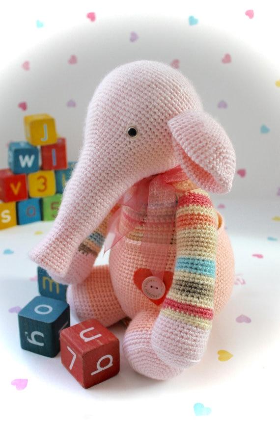 ФОТО Peaches & Walter - Crochet Amigurumi Baby Elephant