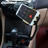 Cobao evrensel şarj iki usb araç şarj cep telefonu tutucu standı montaj tutucu cep aksesuarları en telefon smartphone için