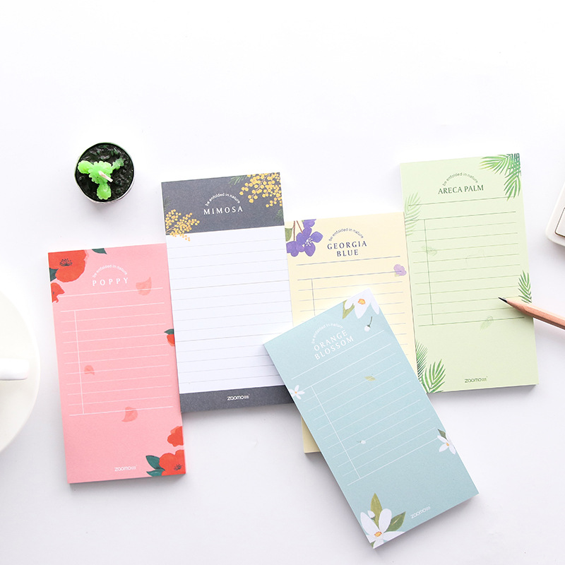 Cute Floral Desktop Schedule Month's Plan Memo Pad Office Supplies