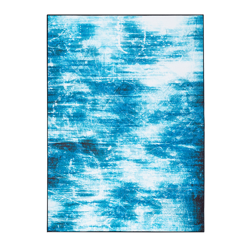 Bleu abstrait Art Design rectangulaire grands tapis lavable antidérapant tapis pour enfants chambre salon tapis doux