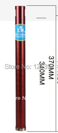 Free shipping of 1pc Laser copper welded 63*370 diamond wet core bit for drilling home decoration water pipe installation using