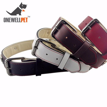 Onewellpet Brand High Quality Leather Pet Collar With Skull Of Metal And Size Of L XL XXL For Doberman And Other Large Pet Dogs
