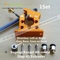 1 Conjunto DIY Reprap Kossel All-metal Passo 42 Extrusora Bowden Extrusora para a Esquerda/Direita Direção Diâmetro 5mm/8mm Alimunum Para 3D de Impressora