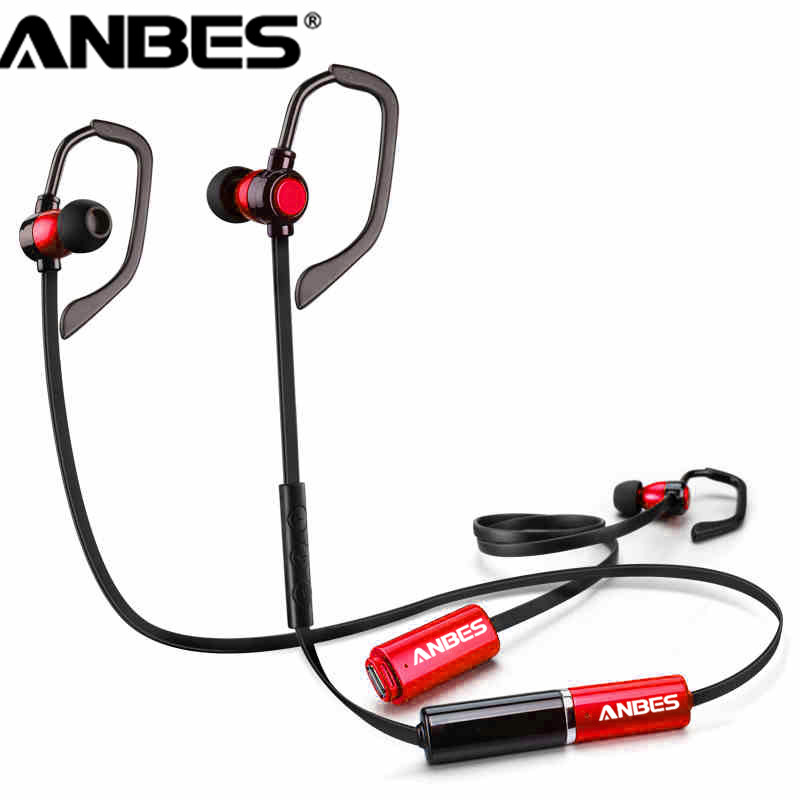 ANBES Replacement Battery Headphones Wireless Bluetooth 4.1 Earphone Stereo Music Headset for iPhone Samsung LG Smartphones bluetooth earphone headphone for iphone samsung xiaomi fone de ouvido qkz qg8 bluetooth headset sport wireless hifi music stereo