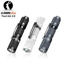 Lumintop tool aa 2.0 mini lanterna led, chaveiro edc com lanterna 3 cores, 650 lúmens, 127 metros e 5 modos, 14500/lanterna aa