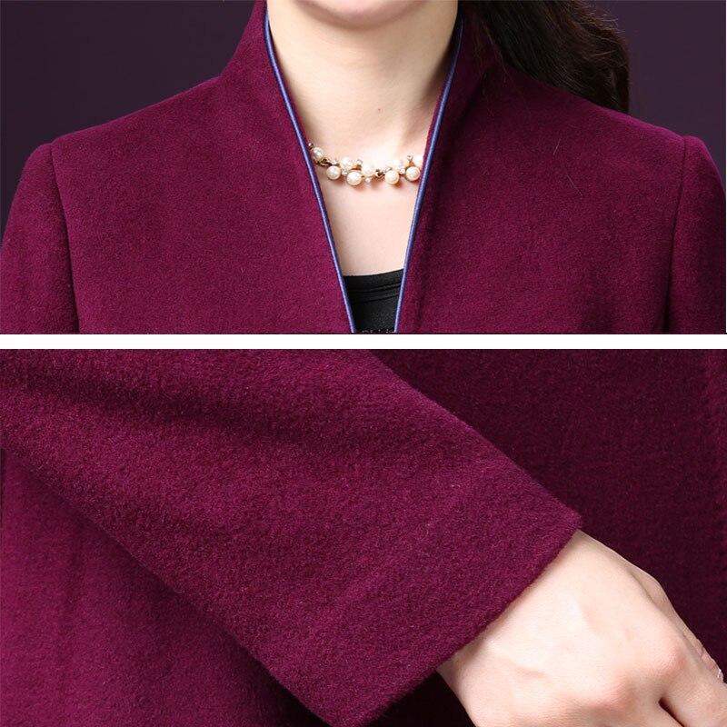 Taille Qualité Cachemire À Double Casaco Face Hiver Long Top Automne La Nouvelle Laine Manteau Blue Veste purple 552 Manteaux De 2018 Femmes Plus Feminino wYwxvnO4