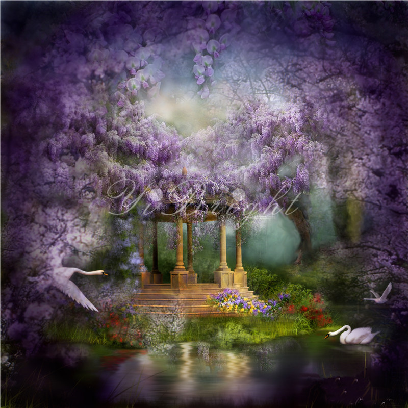 Diamant Peinture Point De Croix Diamant 3D Broderie Wysteria Lake_PWD Carré Point De Croix Kits accueil FUN Décorations à la main LRR