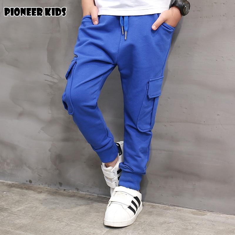 Pioneer Kids Roupas Infantis Boys Harem Pants Casual Sports Spring autumn Cotton Children School Teens Trousers