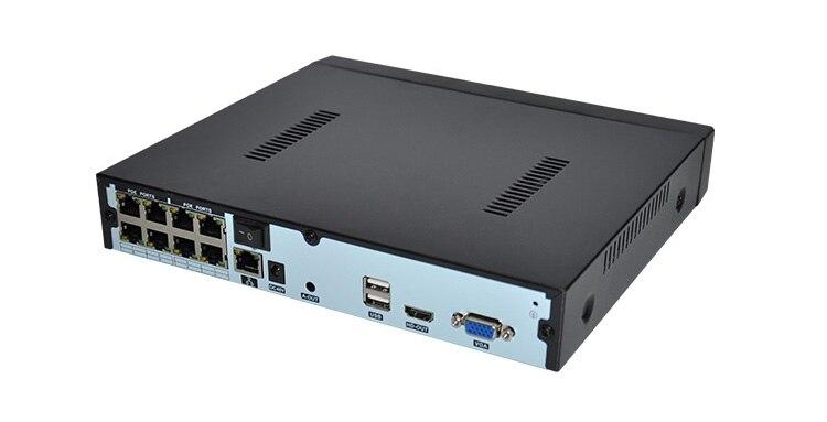 H.265 4MP 8CH 1080 P HD Realtime onvif POE netzwerk Video Recorder unterstützung 48 V dahua hikvision 4MP ip kamera und onvif IP kamera