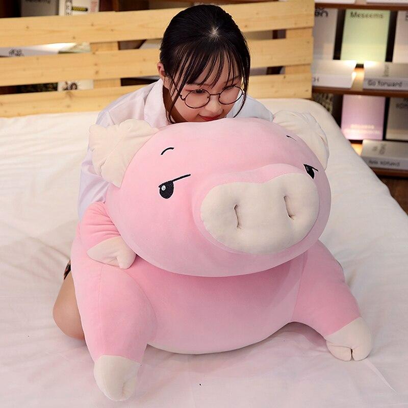 kawaii cartoon pig plush toy doll big stufefed fat pink pigs dolls sleeping pillow for children girls gift 43inch 110cm DY50445 (11)