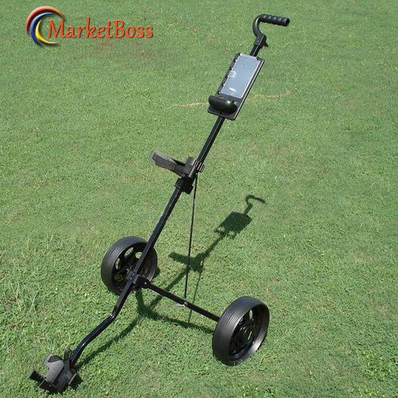 New Arrival Golf Foldable 2 Wheels Trolley Quick Easily Fold Wheel Golf Push Pull Cart Golf Accessories