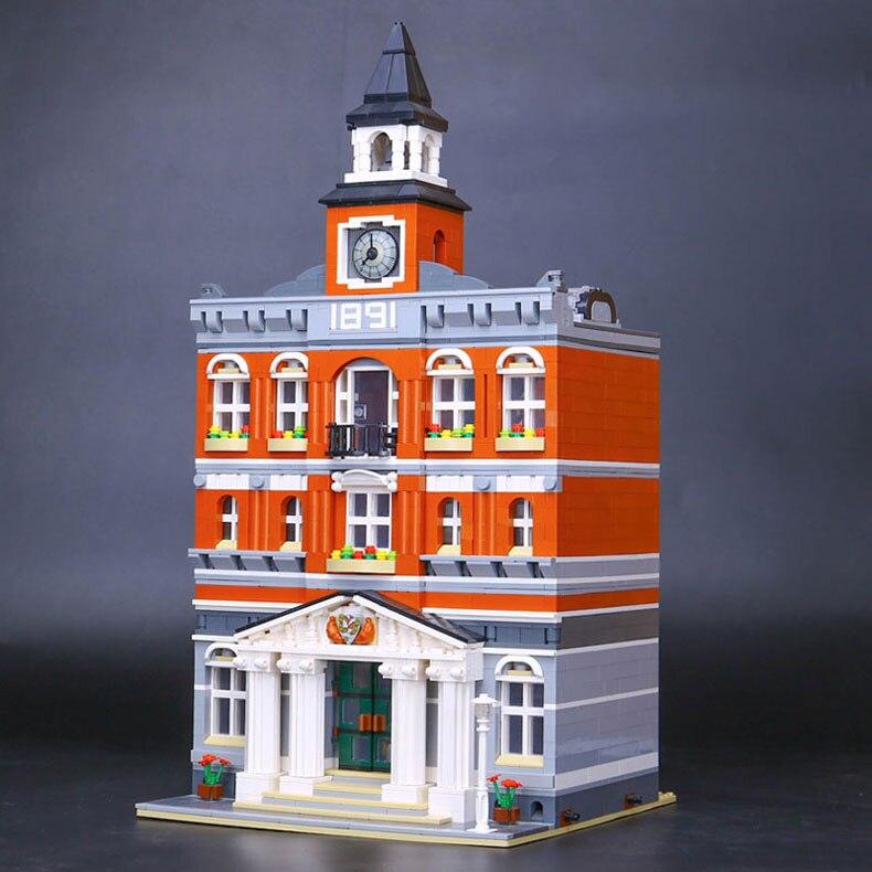 LEPIN 15003 Street View The town hall Model Building Kits Building Blocks Bricks Gift jayhawks jayhawks hollywood town hall