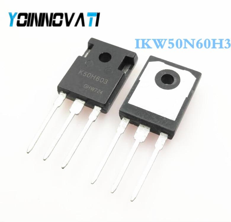 Free shipping 50pcs lot IKW50N60H3 K50H603 IGBT 600V 100A 333W TO247 3 Best quality