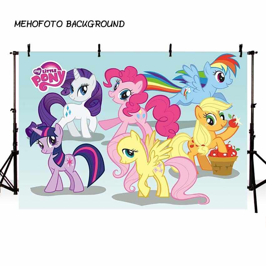 写真の背景漫画マイリトルポニー誕生日の背景スタジオカスタマイズ Photobooth のための写真の背景
