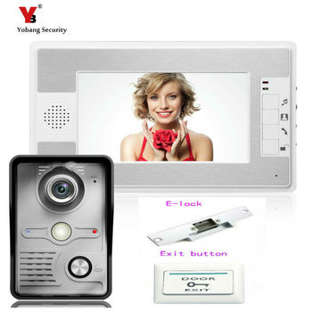 Yobang Security Video intercom Video Doorphone Video Intercom System 7 inch Color Monitor and HD Camera Video Door bell phone