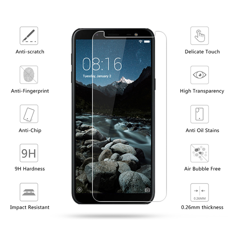 screen protector tempered glass for samsung galaxy j4 j6 plus 2018 note 2 3 4 5(3)
