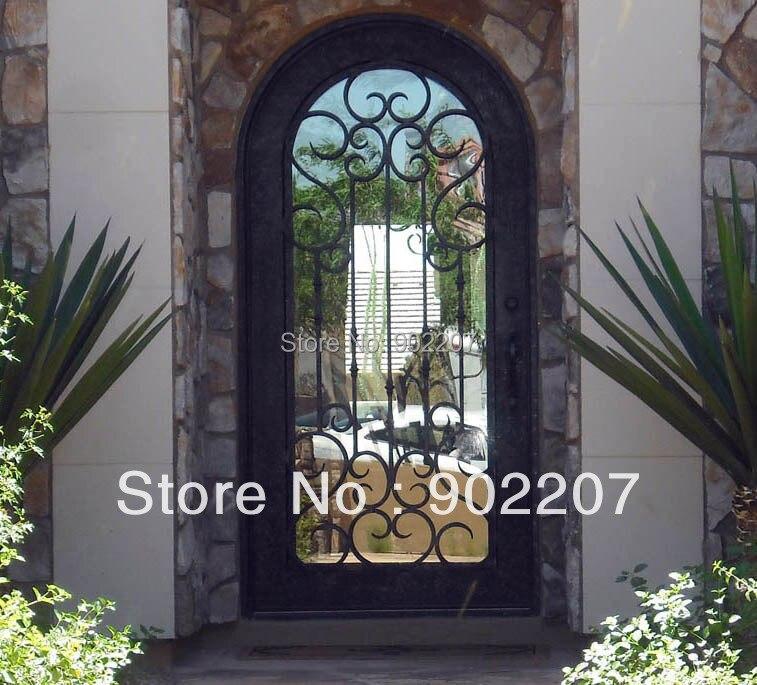 puerta de entrada de hierro de hierro de vidrio enry puertas id