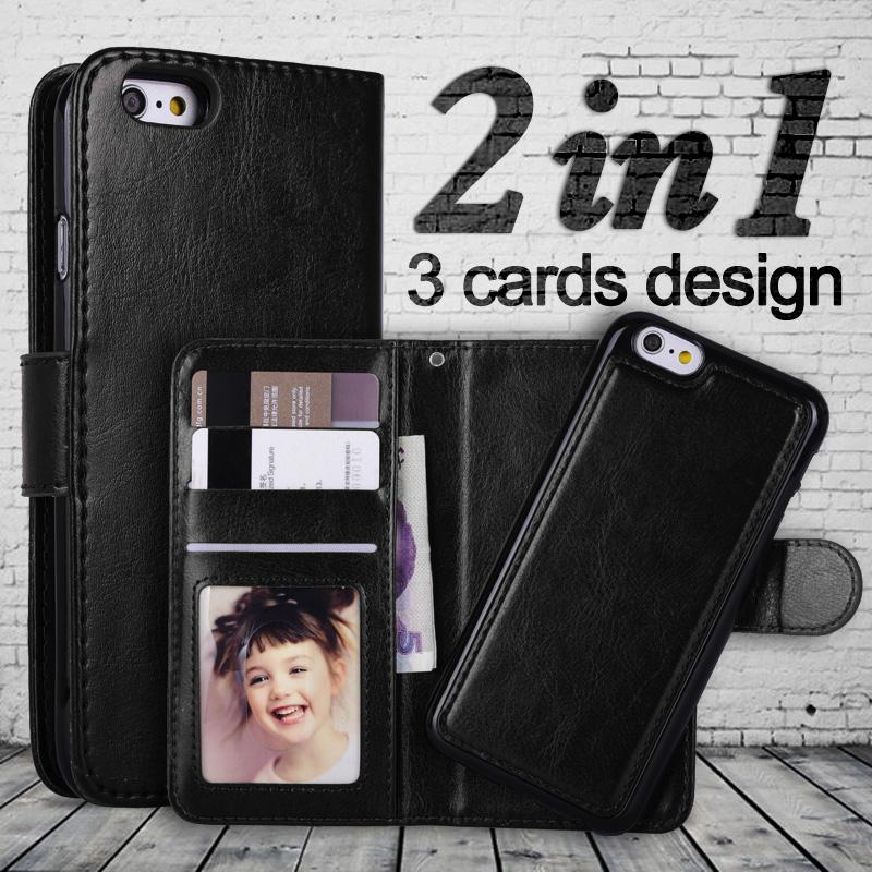 100/300 pièces pour iPhone XS MAX X 7 8 Plus 2 en 1 magnétique détachable portefeuille en cuir étui de téléphone pour Samsung S9 S10 Huawei