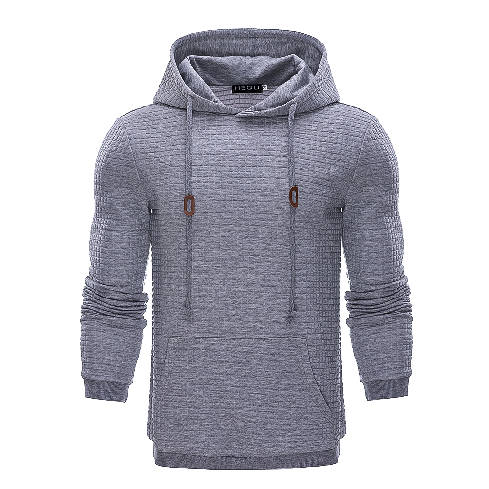 Hoodies Men 2018 Brand Male Long Sleeve Solid Color Hooded Sweatshirt Mens Hoodie Tracksuit Sweat Coat Casual Streetwear