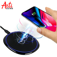 Artisome Qi Wireless Charger Ultra Slim Fast Wireless Charging Pad For IPhone X 8 8 Plus