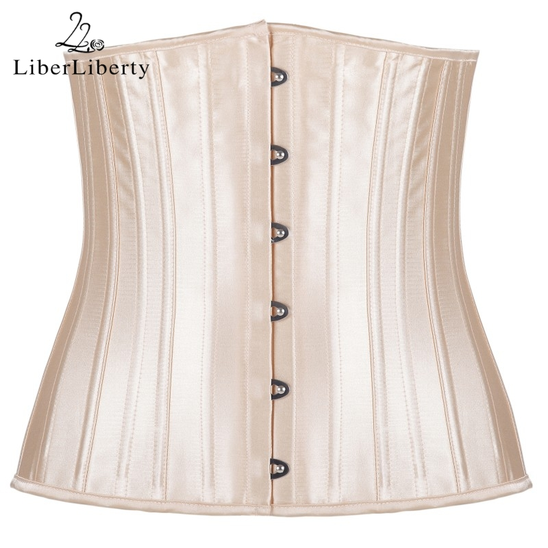 Body Girdles For Women Metal Locking Girdles Enhance The Breast Waist Trainer Corset 24 Steel Bones Body Shaper Slimming