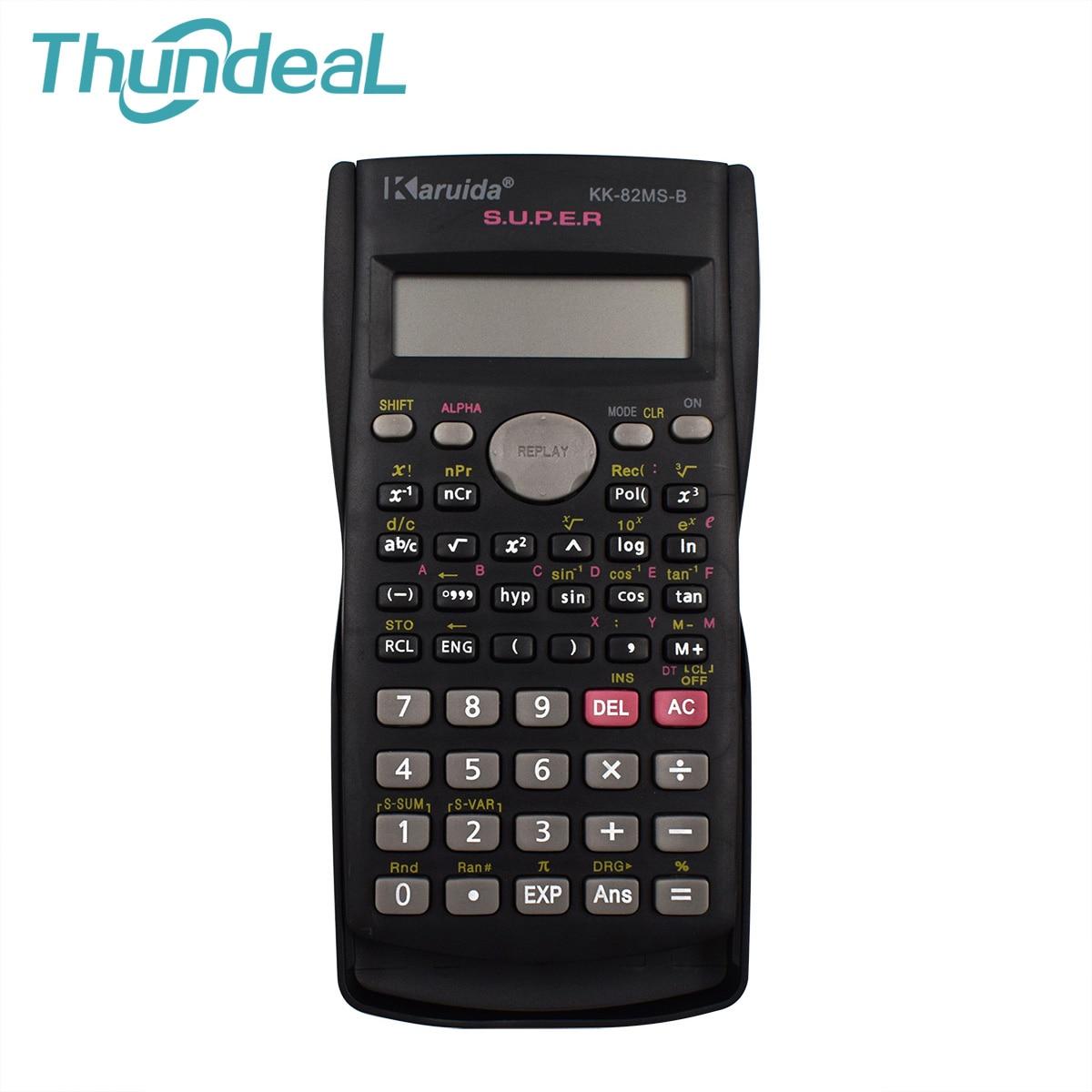 Портативный ручной Student научный калькулятор счетчик 240 функций 2 линии ЖК-дисплей Дисплей карманный калькулятор для школы Конференц-