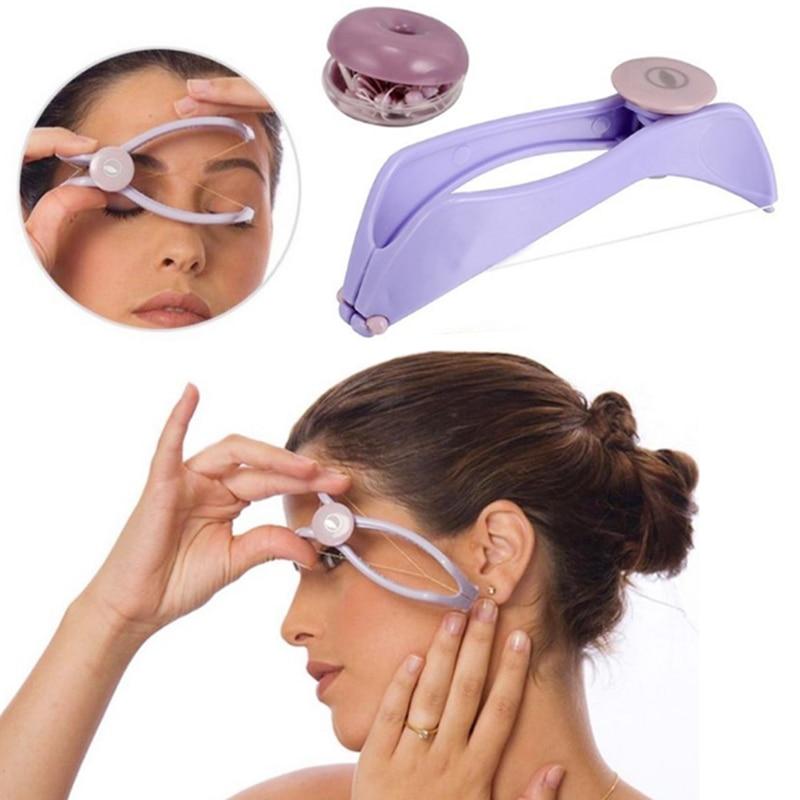 Body Facial Spring Threading Epilator Hair Remover Defeatherer Slique DIY Makeup Beauty Tool For Cheek Eyebrow Face Care Machine
