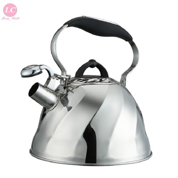 Stove Kettle 3 Litre Water Kettle Whistling Kettle Pot Silicone Handle Anti-hot Kitchen Cookware